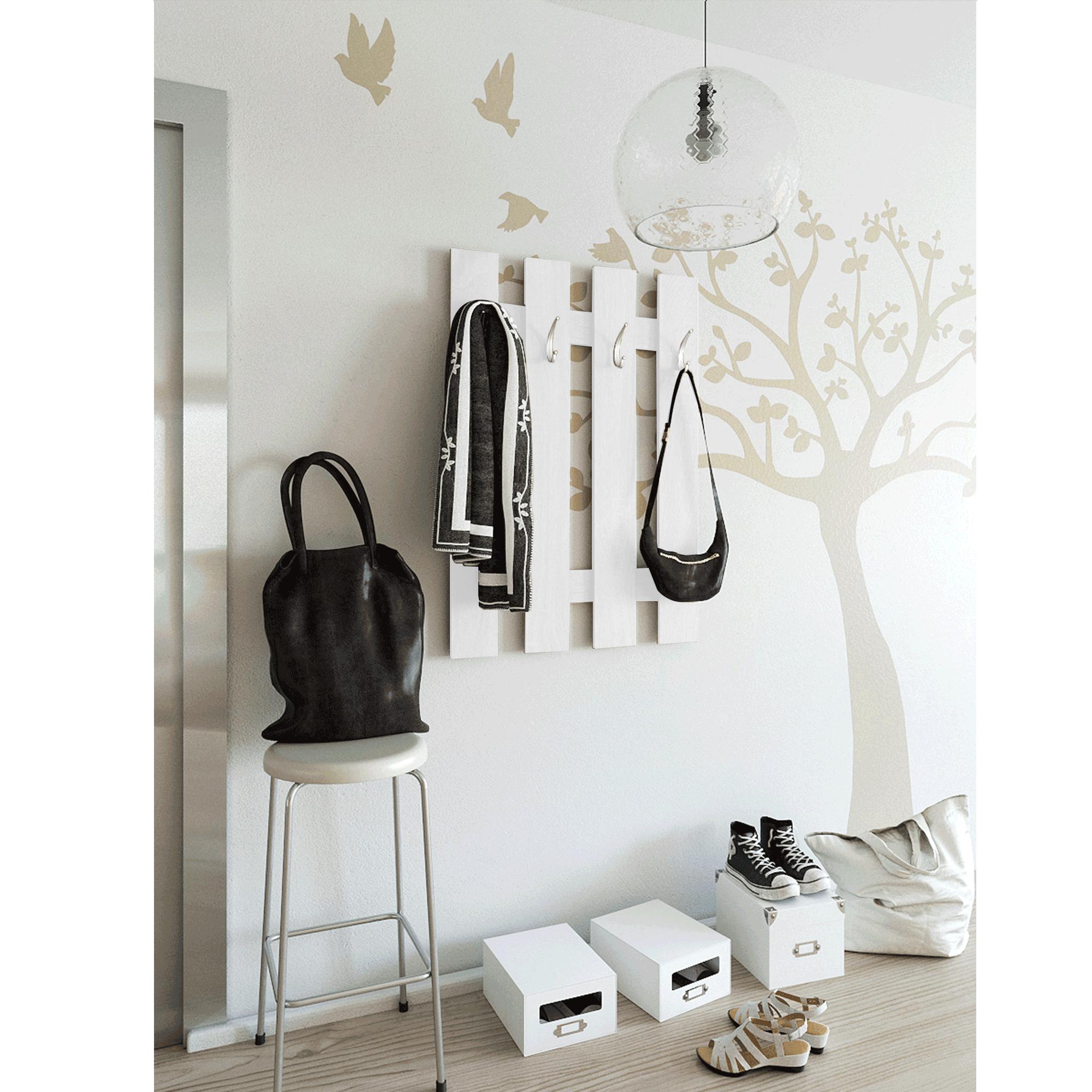 Vešiaková stena, biela, KORADO NEW