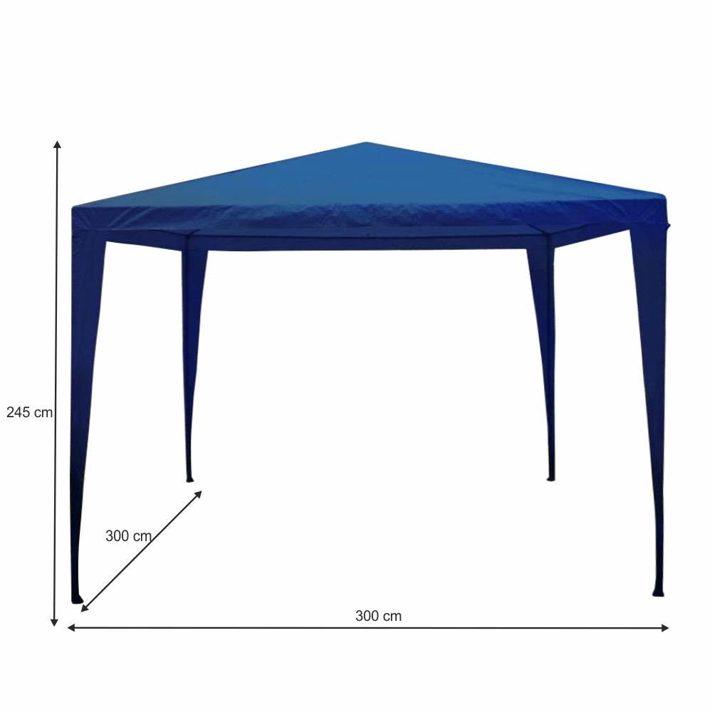 Záhradný pavilón/altánok, modrá, 3x3 m, GOTAN